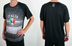 Zwarte Bones Sportswear Heren T-shirt Italia maat M SALE
