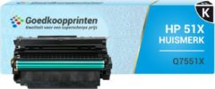 Goedkoopprinten Huismerk voor HP 51X toner / HP Q7551X toner (14.500 afdrukken) Zwart