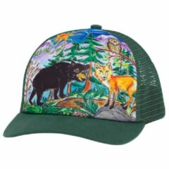 Sunday Afternoons - Kid's Artist Series Trucker Cap - Pet maat M/L, olijfgroen/turkoois/grijs