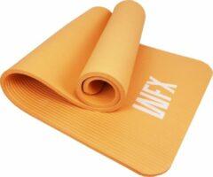#DoYourFitness - Extra dikke fitness mat - »Jivan« - duurzaam, non-slip, huidvriendelijk, slijtvast - 183 x 61 x 2,0 cm - oranje