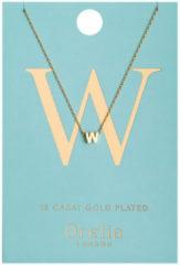 Orelia Kettingen Necklace Initial W Goudkleurig