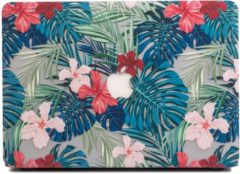 Rode Lunso - cover hoes - MacBook Pro 15 inch (2016-2018) - Tropical leaves red