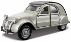 Grijze Bburago Modelauto Citroen 2cv Lelijk Eendje 1:32 - Speelgoed Auto Schaalmodel