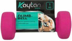 Roze Kaytan Sports 2x Dumbell 1 kg - Dumbells Set 1 kg - Halterset - Halters - Set van 2