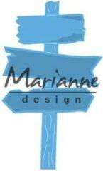 Blauwe Marianne Design Marianne D Creatable houten wegwijzer LR0535 49x81 mm