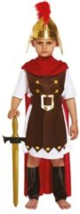 Bruine Henbrandt KINDEREN JONGENS 4-Delig Romeinse Gladiator / Romeinse Generaal, bestaande uit: Harnas, Riem, Cape en Beenbeschermers | Romeinse Gladiator | Carnavalskleding | Verkleedkleding | Jongen | Maat: L 10-12 Jaar