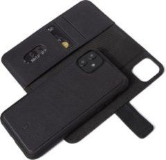 DECODED Detachable Book Case, 2-in-1 Full Grain Leren Wallet-case iPhone 11, Afneembare magnetische cover, Wallet met 3 kaartvakken, Schokbestendig, Flip case voor iPhone 11 [ Zwart ]