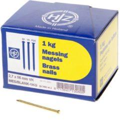 Hjz Messing nagels verloren kop 2.7 x 55mm 1kg