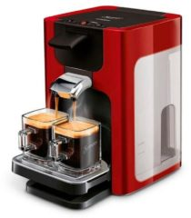 Rode SENSEO®-koffiepadautomaat HD7865/00 Quadrante, met Coffee Boost, XL waterreservoir, wit