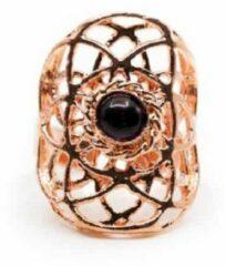 Paarse Spiru Verstelbare Ring Seed of Life Koper met Amethist (30 mm)