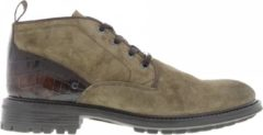 Grotesque | Triplex 5-a taupe suede vt boot - dk brown sole | Maat: 40