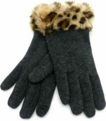 Scarfz Zachte dames handschoenen Roar|Grijs luipaard|warme handschoenen