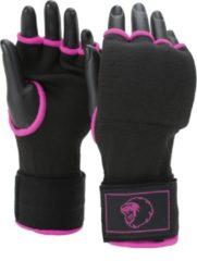 Zwarte Super Pro Combat Gear Binnenhandschoenen Met Bandage Roze Maat S