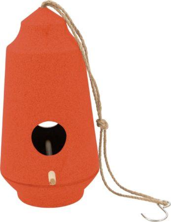 Afbeelding van Point-Virgule - Vogelhuisje - Nestkastje tuinvogels - Oranje - ø15cm H28cm