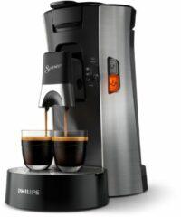 Zilveren Philips Senseo® Select Koffiepadmachine Csa250/10 - Rvs