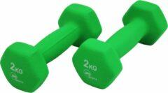 JPS Sports Dumbbells - Dumbbells Set 2 x 2 kg - Gewichten - Halters - Groen