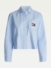 Blauwe Tommy Hilfiger Tommy Jeans Tommy Jeans Blouse TJW Regular Tommy Badge Shirt DW0DW08918