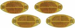 Merkloos / Sans marque Spaakreflectoren/fietsreflectoren oranje 4x stuks - Fiets accessoires/veiligheid/zichtbaarheid