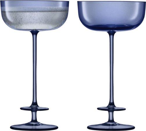 Afbeelding van Blauwe LSA International L.S.A. Champagne Theatre Champagne Glazen - 210 ml - Set van 2 Stuks