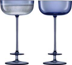 Blauwe LSA International L.S.A. Theatre Champagne Glazen - 210 ml - Set van 2 Stuks