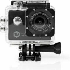 Zwarte Nedis ACAM21BK Action Cam Full Hd 1080p Wi-fi Waterdichte Behuizing
