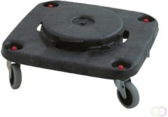 Brute Dolly vierkant, Rubbermaid zwart