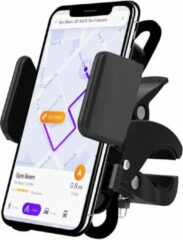 Zwarte Universele Fietshouder voor alle Telefoons – Schokbestendige Fiets Stuur Houder voor Smartphone onder andere Samsung Galaxy, Apple iPhone, Huawei – van iCall