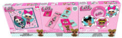 Roze L.O.L. Surprise verrassingsspellen junior 61 cm karton 106-delig