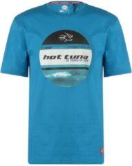 Hot Tuna Printed T-Shirt - Maat S - Heren - Oceaan blauw