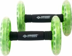 Schildkrot Fitness Schildkröt Fitness - Set Van 2 Dual Rollers - Groen/Zwart