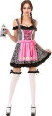 Roze PartyXclusive Dirndl Dames Oktoberfest Cutie Zwart - M