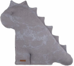 Grijze Baby's Only Marble Dino Knuffel Cool Grey / Lila XL