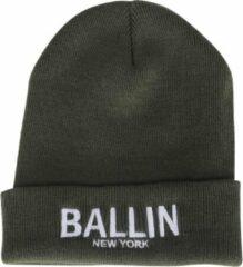 Groene Ballin Est. 2013 unisex muts army wit geborduurd