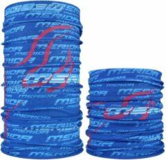 Fako Fashion® - Microfiber Faceshield - Bandana - Nekwarmer - Sjaal - Blauw/Rood