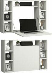 Witte Vcm Wandbureau wandtafel laptop notebook opklapbaar ruimtebesparend