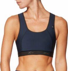 Donkerblauwe CW-X XTRA Support sportbeha donker blauw voor hardlopen en fitness maat 80B/C