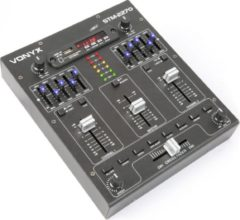 Zwarte Vonyx SkyTec STM2270 4-Kanaals Mixer Geluidseffecten SD/USB/MP3/BT