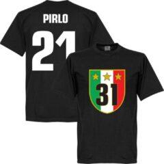 Zwarte Retake Juventus 31 Campione T-Shirt + Pirlo 21 - XXXXL