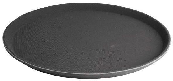 Afbeelding van Zwarte Imperial Kitchen Anti-slip Dienblad - Ø 35.5 cm - Kunststof