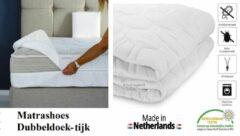 Witte Royalmeubelcenter.nl Matrashoes (Dubbeldoek tijk) 200x190 Dikte 20 cm Anti-allergische Wasbare Tweepersoons matrashoes. Royal Meubel Center.nl ®