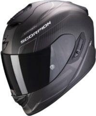 Zwarte Scorpion EXO-1400 Air Carbon Beaux Matt Black Silver Integraalhelm - Motorhelm - Maat XXL