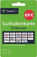 Sonstige Freenet TV Guthabenkarte - Voucher Gutschein für 12 Monate