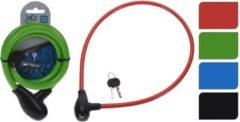 Merkloos / Sans marque Groen fietsslot/krulkabelslot 100 cm - Kabelsloten - Fietssloten - Slot voor de fiets