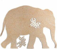 Kaboomlaser Olifant | Houten Puzzel | Entropy serie | 81 stukjes