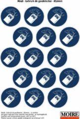 Blauwe Moire BV Pictogram sticker 75 stuks M048 - Gebruik de gasdetector - 50 x 50 mm - 15 stickers op 1 vel