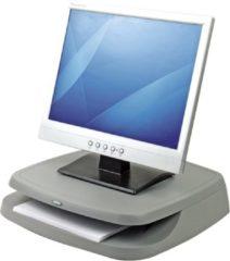 Grijze Fellowes monitor standaard basic monitorverhoger in 3 hoogtes verstelbaar