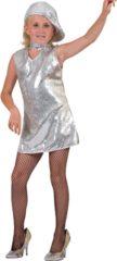 Fun & Feest Party Gadgets Zilveren glitter jurkje pailletten 116