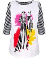 Witte Shirt MIAMODA Zwart