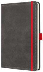 Donkergrijze Sigel Notitieboek Conceptum 194blz hard Vintage Dark Grey A5 gelinieerd SI-CO637