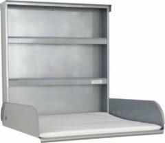 ByBO Design - Pippi - Opklapbare Wandcommode- Metaal - Zilvergrijs